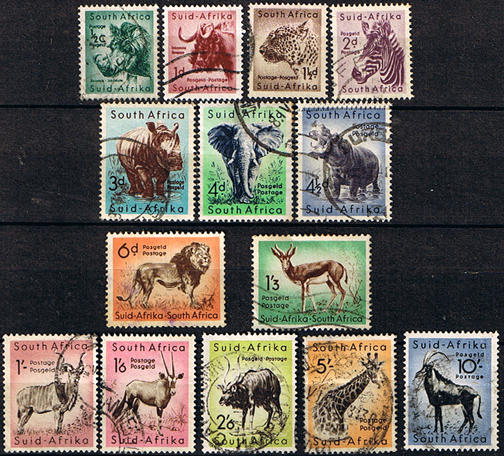 south-africa-1954-wild-animals-set-fine-used-2774-p